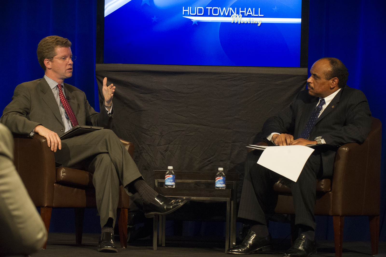 Town Hall Meeting  [at HUD headquarters, led by Secretary Shaun Donovan, Acting Deputy Secretary Estelle Richman, and Deputy Assistant Secretary for Public Affairs Jerry Brown]