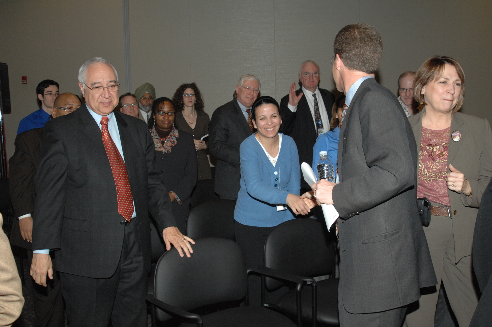 "Town Hall meeting, [""The Road Ahead,"" at HUD headquarters, featuring]  Secretary Shaun Donovan [and other senior officials]"