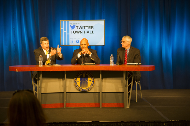 Twitter Town Hall [event at HUD headquarters, with Deputy Secretary Maurice Jones among the officials fielding questions]