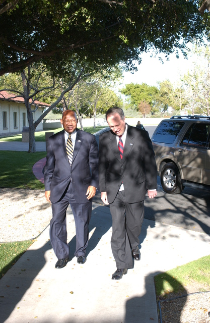 Visit of Secretary Alphonso Jackson [and aides] to the Ronald Reagan Presidential Library in Simi Valley, California