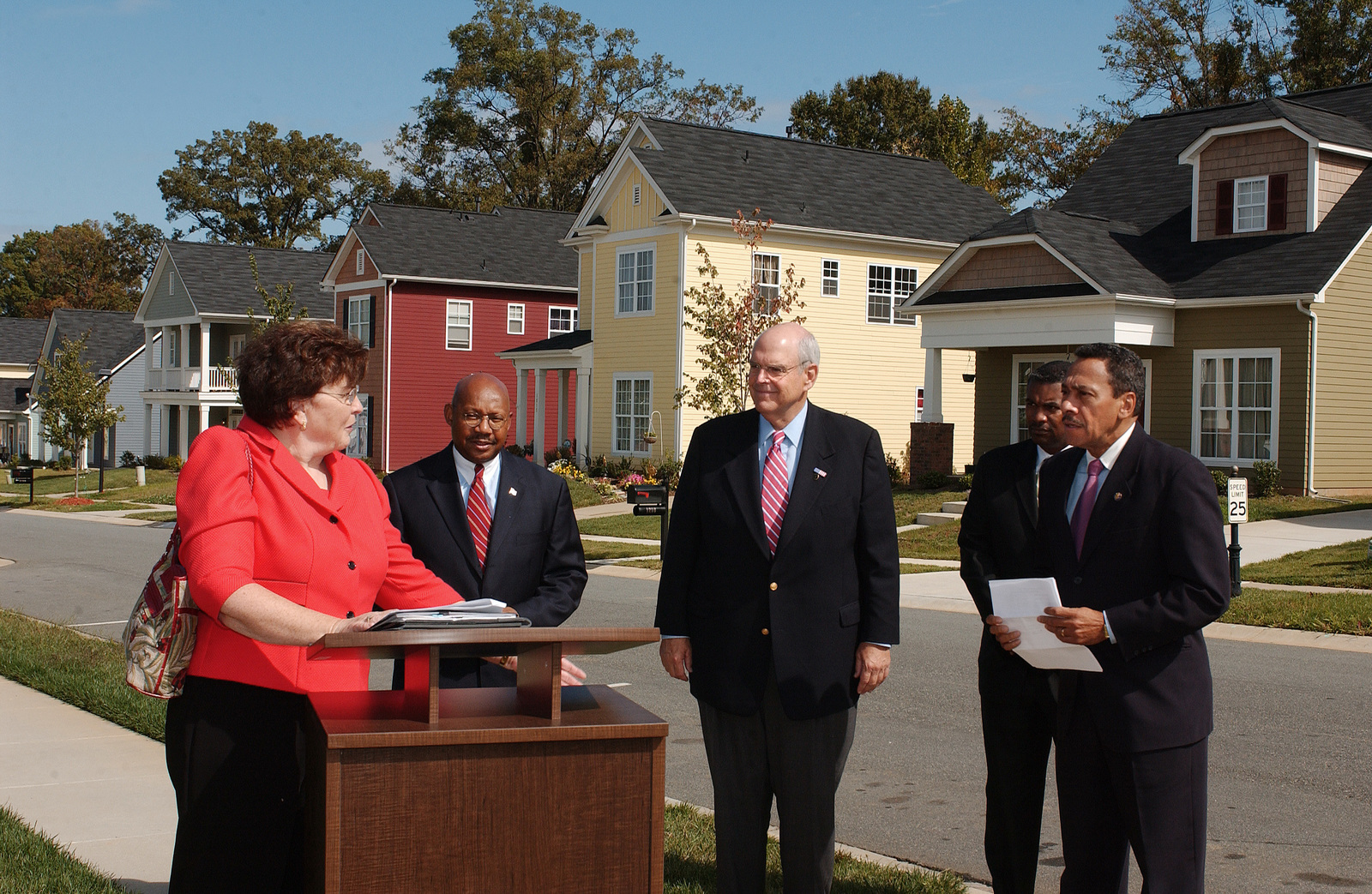 Visit of Secretary Alphonso Jackson to Charlotte, North Carolina, where he toured the Genesis Park Community with North Carolina Congressmen Robin Hayes and Mel Watt, among others