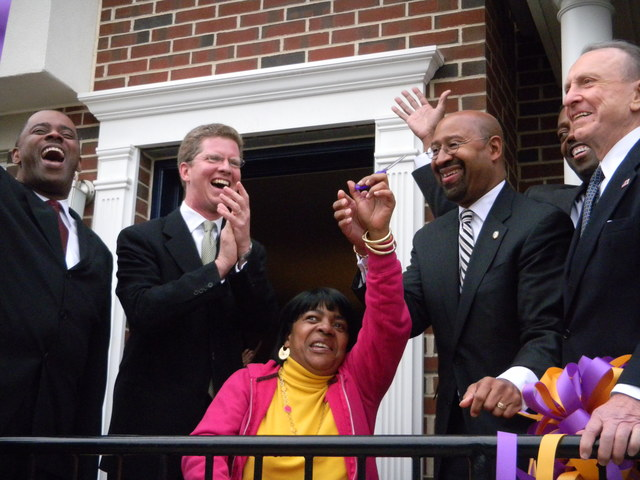 Visit of Secretary Shaun Donovan to Philadelphia, Pennsylvania,  [for touring,  participation in ribbon-cutting ceremony for--and walk-through of--Philadelphia Housing Authority's newest development,  Warnock Village.  Joining Secretary Donovan at Warnock Village were Pennsylvania Senators Arlen Specter and Bob Casey, Jr.,  Pennsylvania Congressman Bob Brady, Philadelphia Mayor MIchael Nutter,  and Philadelphia Housing Authority Executive Director Carl Greene,  among other dignitaries.]