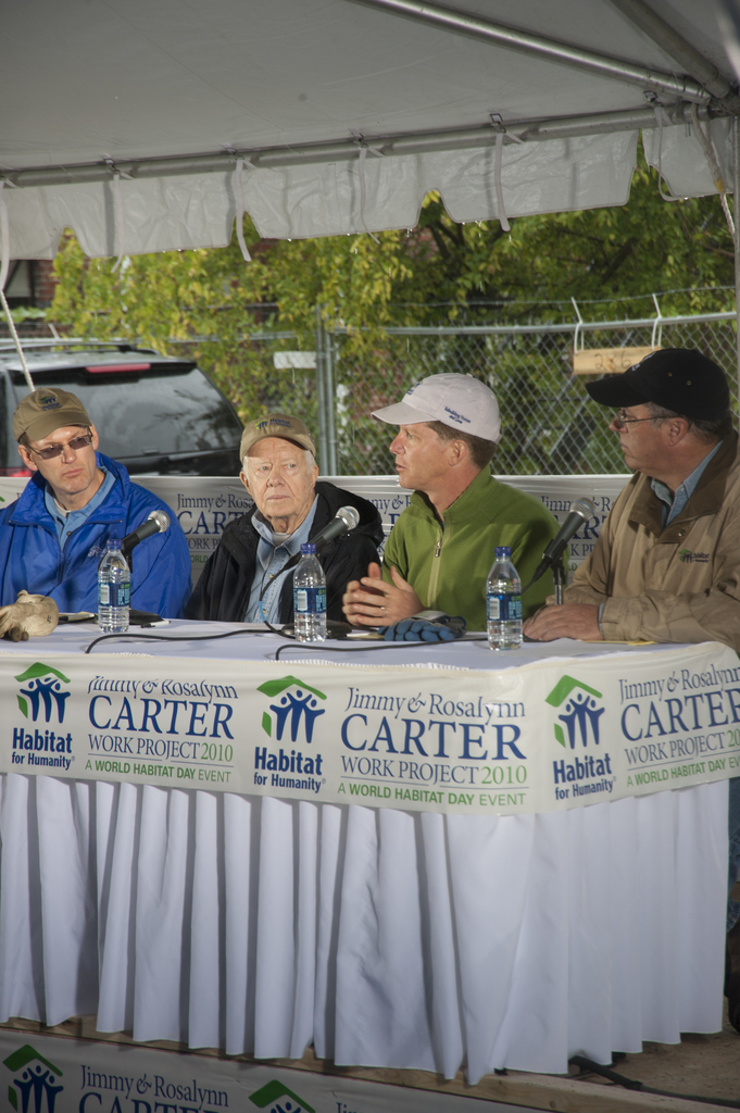 Volunteer build activities [for World Habitat Day:  27th Annual Carter Work Project, with former President Jimmy Carter and former First Lady Rosalynn Carter joined in Washington, D.C. by Secretary Shaun Donovan, Habitat for Humanity International Chief Executive Officer Jonathan Reckford, Habitat for Humanity of Washington, D.C. President Kent Adcock, and more than 200 volunteers, including HUD staff members, working on renovating and building homes in D.C.'s Ivy City neighborhood]