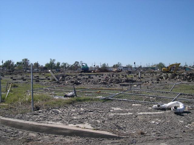 Hurricane Katrina, Louisiana. [Damage, cleanup, city views, emergency centers, HUD personnel.]