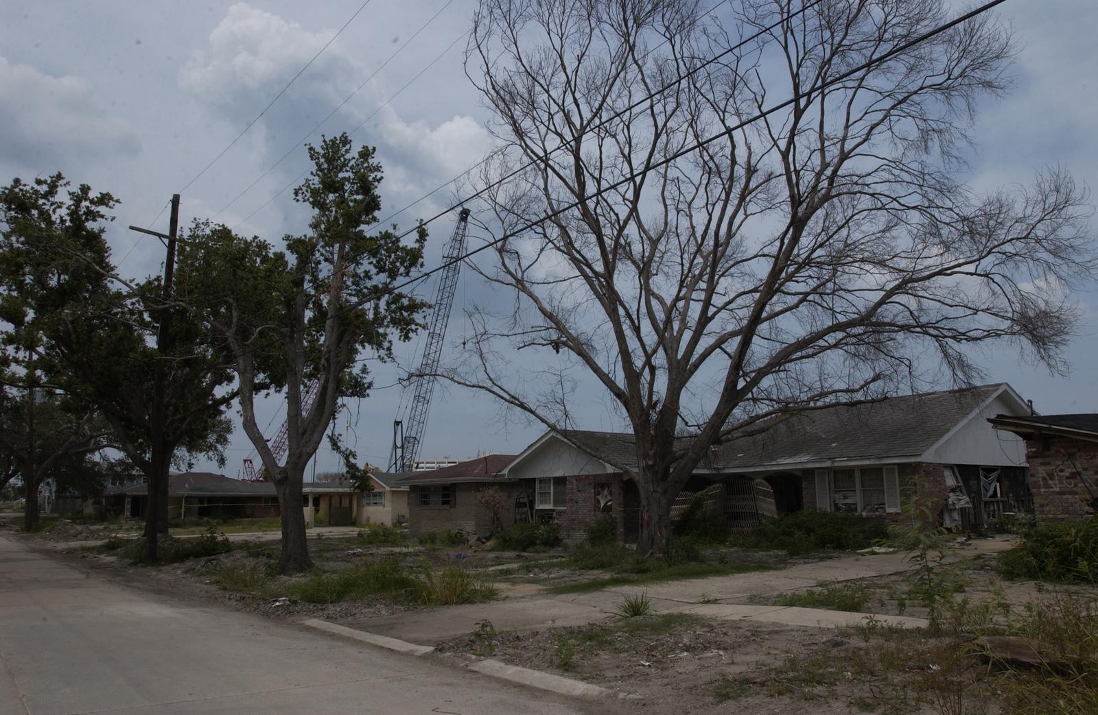 New Orleans, Louisiana:  Hurricane Katrina damage, cleanup activities, HUD staff