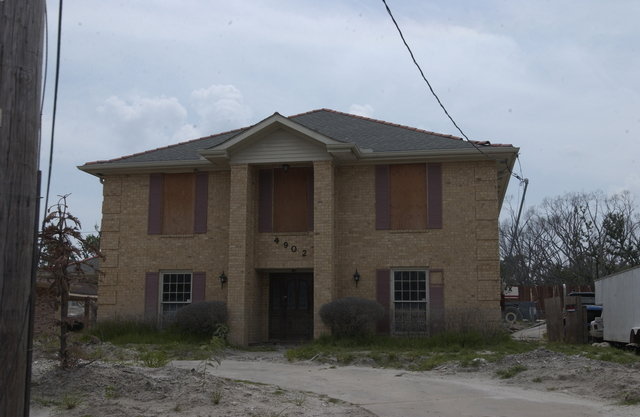 New Orleans, Louisiana:  Hurricane Katrina damage, cleanup activities, HUD staff