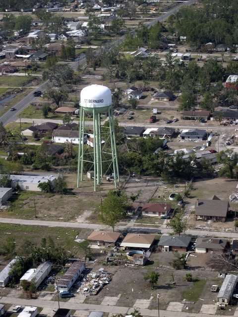 New Orleans, Louisiana:  Hurricane Katrina damage, [surveyed by HUD officials]