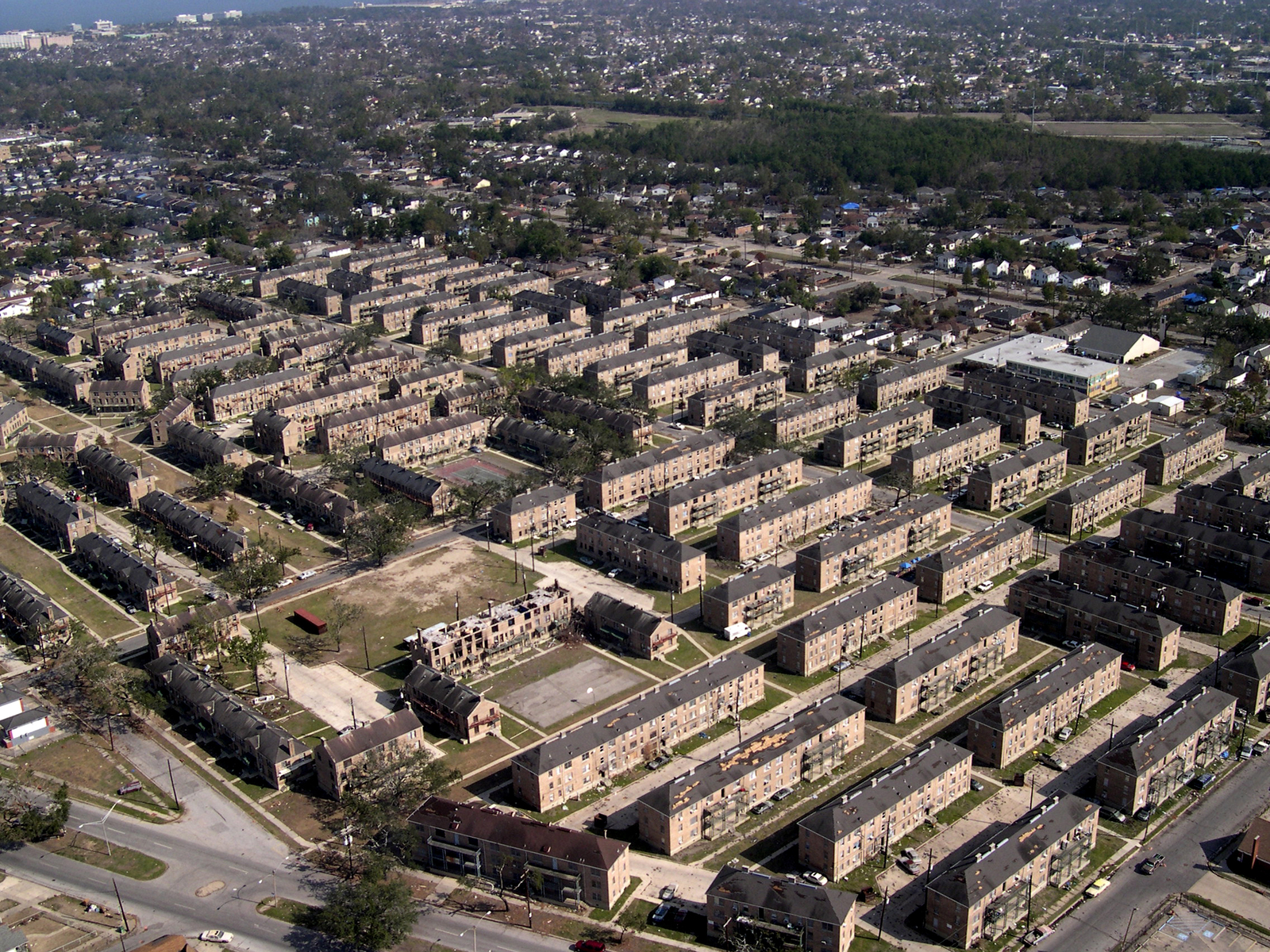 [Select views:]  New Orleans, Louisiana public housing, after Hurricane Katrina