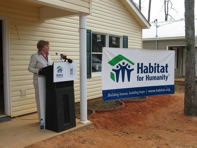 [Visit of Assistant Secretary for Community Planning and Development, Pamela Patenaude, and other HUD officials to New Orleans and surrounding areas of Louisiana, where they inspected hurricane-related damage and recovery efforts, and joined Habitat for Humanity Vice President Paul Rogers at an event in Covington marking the awarding of a HUD grant to Habitat for post-Katrina rebuilding efforts]