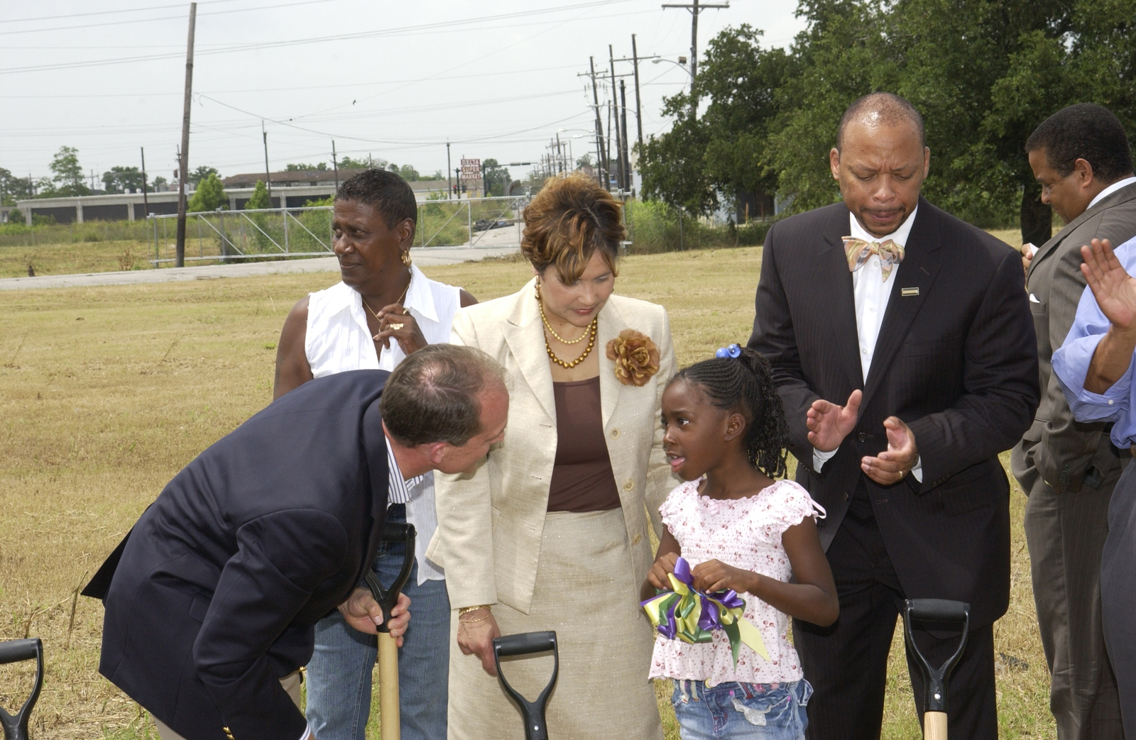Visit of Secretary Steve Preston to New Orleans,  Louisiana,  where he toured some of the city's public housing communinties (including the Lafitte and C.J. Peete public housing developments),  participated in a groundbreaking ceremony for a community center near the new Abundance Square-Treasure Village mixed-income community in the Upper Ninth Ward,  visited a family (Lillie Daniels and Ronald Craig) that used a HUD program (Housing Choice Voucher Homeownership Program) to become first-time homeowners, and met with city officials to get a briefing on New Orleans' ongoing [post-Hurricane Katrina] recovery