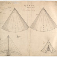 Drawing of Improvement in Tents