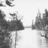Photograph of a Section of a Buy of Lake Hudson Looking Toward Main Lake