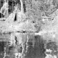 Photograph of an Old Indian Camp on Lake Isabella