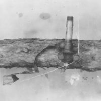 Photograph of Deer Gun Found in Woods by Civilian Conservation Corps (CCC) Boy Timer Surveying