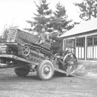 Photograph of Side View of Trailer Before Leveling Off