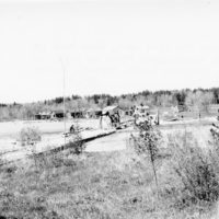 Photograph of Knutson Dam Wide Open