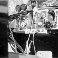 Photograph of Radiophone Built in Dustproof Case and Mounted in Dash Panel of a Fire Truck
