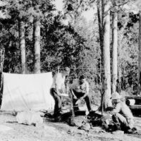 Photograph of Serving Soup at a Tourist Canoe Camp