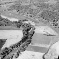 Photograph of Aerial View of Cultivated Fields Along the Hocking River