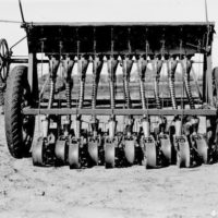 Photograph of View of Seeder from Rear