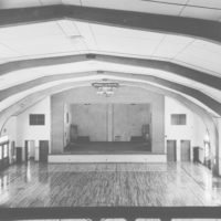 Photograph of Laminated Wood Arches Used to Support the Roof of the New Grade School Gymnasium at Eagle River, Wisconsin