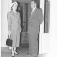 Richard and Pat Nixon are photographed at the Hotel Del Coronado in San Diego