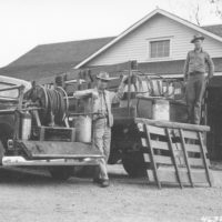 Photograph of a Fire Pickup with Pumper Unit