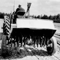 Photograph of Rotary Tiller in Raised Position