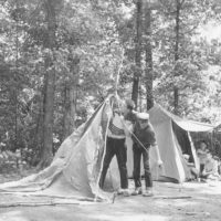 Photograph of Boys Pitching Tents