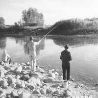 Photograph of Fishing for Walleyed Pike on Mississippi River