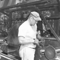 Photograph of Portable Sawmill Using National Forest Timber