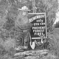Photograph of Smokey Bear Fire Prevention Sign