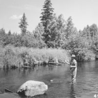 Photograph of Trout Fishermen on Ontonagon River