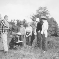 Photograph of Michigan State Conservation Commission Man Helping Senior Girl Scouts at Camp Tocanja