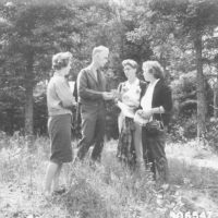 Photograph of Ranger Anderson on a Show Me Trip with Members of the County Extension Service