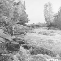 Photograph of Trout Fishing at the Burnt Bridge Falls