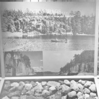 Photograph of Center Panel of the Geological Exhibit