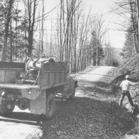 Photograph of Roadside Spraying at Dunkle Corners
