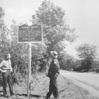 Photograph of Wayside Historical Sign
