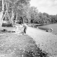 Photograph of Picnickers on North End of Clark Lake