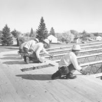 Photograph of Lydick Lake Corpsmen Building Central Repair Shop at Cass Lake