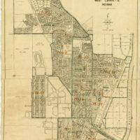 1819 IN MAP IND Vincennes Washington West Lafayette Hidden Valley Greencastle XL
