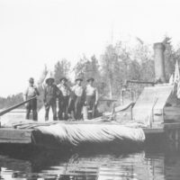 Photograph of a Boat Used in Rafting Logs on Lakes