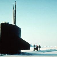 The British Royal Navy Trafalgar class Attack Submarine HMS