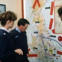 A View Of An Air Traffic Map At The RAF Watton Eastern Radar - Air traffic control maps us
