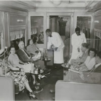 Photograph of the Lounge Section of an Erie Railroad Company Dining Car