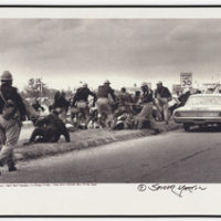 Photograph of Alabama State Troopers Beating Black Marchers on Bloody Sunday