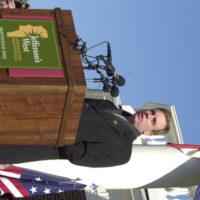 Virginia Governor Mark Warner speaking at events marking the debut of the Lewis and Clark Bicentennial traveling exhibit, Corps of Discovery II, at Monticello, Virginia