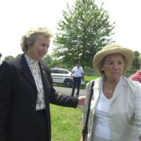 National Park Service Director Fran Mainella, left, with Ethel Kennedy, Earth Conservation Corps supporter and widow of Robert Kennedy, at the Washington, D.C. groundbreaking event for the Anacostia Riverwalk Trail, a public-private partnership project involving D.C., Park Service, environmental groups