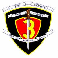 Official logo 1ST Battalion, 3rd Marine Regiment